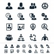 Human Resources beheer pictogrammen — Stockvector  #22888784