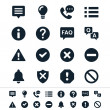 Stock Vector: Information and notification icons
