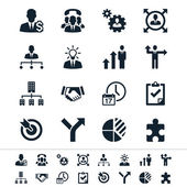 Business en management pictogrammen — Stockvector