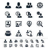Human resource management icons — Stock Vector