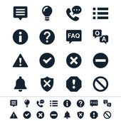 Information and notification icons — Vector de stock
