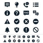 Iconos de información y notificación — Vector de stock