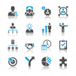 Stockvector : Business and management icons - reflection theme