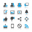 Social network icons - reflection theme - Imagen vectorial