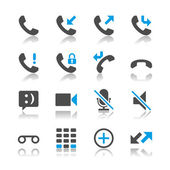 Telephone icons - reflection theme — Stock Vector