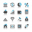 Royalty-Free Stock Vector Image: Financial investment icons - reflection theme