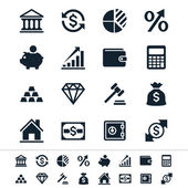 Financial investment icons — Stock Vector