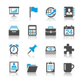 Business and office icons - reflection theme — Stock Vector