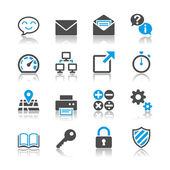 Application icons - reflection theme — Stock Vector