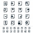 Document icons — Stock Vector #27373501