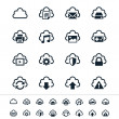 Cloud computing icons — Stock Vector #27373509