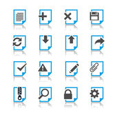 Document icons reflection theme — Stock Vector