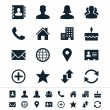 Contact icons — Stok Vektör