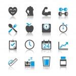 Healthcare icons reflection theme — Stock Vector #28792523