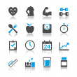 Healthcare icons reflection theme — Stock Vector