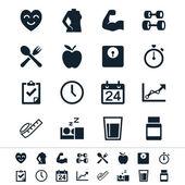 Hälso-och ikoner — Stockvektor