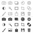 Photography thin icons — Stock Vector