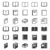 Book thin icons — Stock Vector