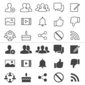 Social network thin icons — Stock Vector