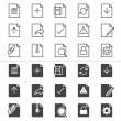 Document thin icons — Stock Vector