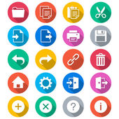 Application toolbar flat color icons — Stock Vector