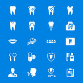 Dental flat icons — Stock Vector
