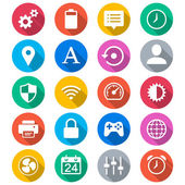 Setting flat color icons — Stock Vector