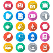 Photography flat color icons — Vector de stock