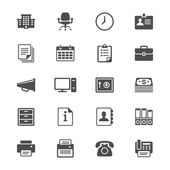Office supplies flat icons — Stock Vector
