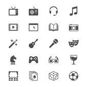 Entertainment flat icons — Vector de stock