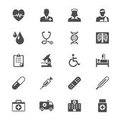 Health care flat icons — Stock Vector