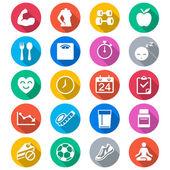 Iconos de colores planos sanitarios — Vector de stock