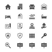 Real estate flat icons — Stockvektor