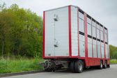 Livestock trailer — Stock Photo