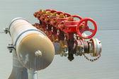 Pump unit factory — Stock Photo