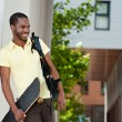 Stock Photo: Africstudent smiling