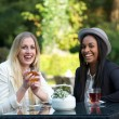Stock Photo: Two Girls Drinking Tea