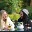 Multicultural Friends Laughing — Stock Photo