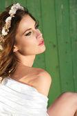 Fashion Bride Portrait — Stock Photo