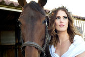 Bride and Bridle — Stock Photo