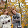 Portrait of Women Friends in Autumn — Stock Photo