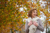 Laughing Woman in Autumn — Stock Photo