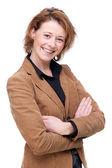 Donna d'affari caucasico felice — Foto Stock