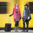 Friends and Speeding Train — Stock Photo #16098439