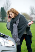 Help from Automobile Customer Service — Stock Photo