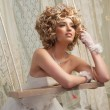 Bride on Swing — Stock Photo