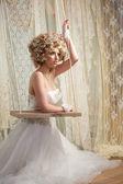 Bride in White Wedding Dress — Stock Photo