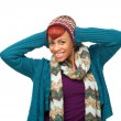 Happy African American Woman Smiling — Stock Photo