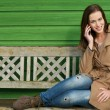 Calling Friends on Mobile Phone — Stock Photo