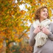 Stock Photo: Older WomSmiling in Autumn